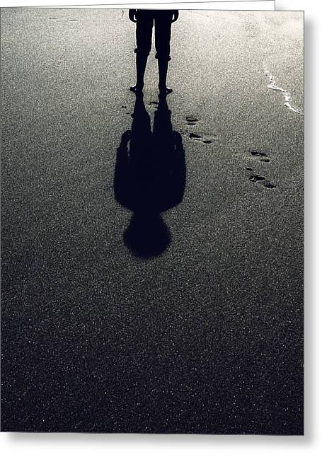 Shoeless Greeting Cards - Shadow Greeting Card by Joana Kruse