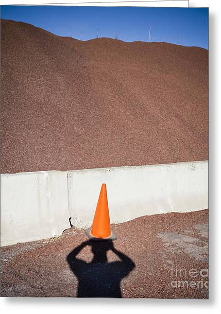 Safety Cones Greeting Cards - Shadow of a Photographer Taking Picture Greeting Card by Paul Edmondson