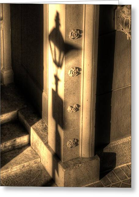 French Doors Greeting Cards - Shadow of Light Greeting Card by Greg and Chrystal Mimbs