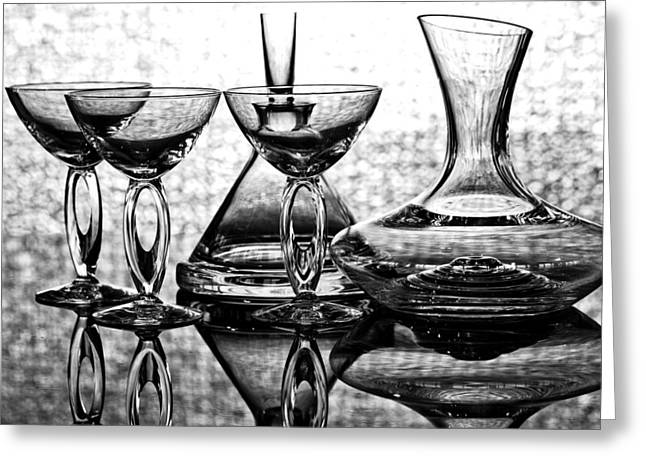Shadow Of Luxury Glass No.1 Greeting Card by Chavalit Kamolthamanon