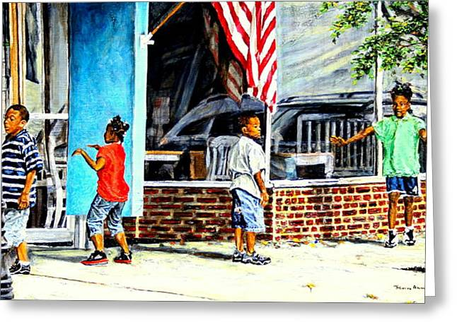 Obama Children Greeting Cards - Shadows and Relections Greeting Card by Thomas Akers