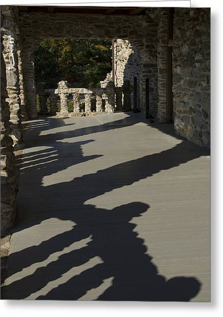 East Haddam Connecticut Greeting Cards - Shadows Cast On The Porch Of Gillette Greeting Card by Todd Gipstein