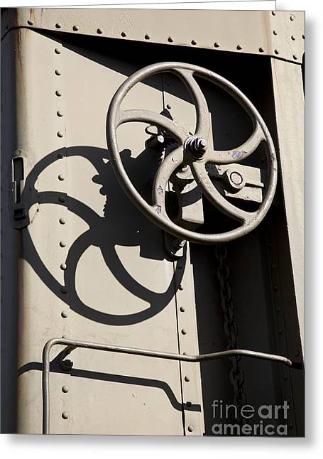 Shadows Of The Train Greeting Card by Leslie Leda