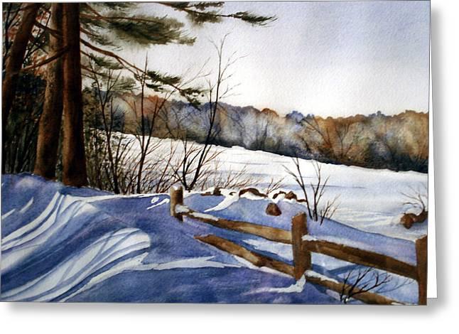 Shadows Of Winter Greeting Card by Daydre Hamilton