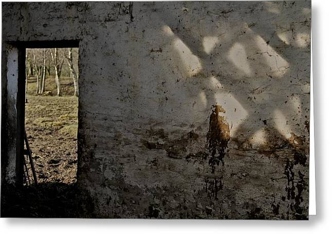 Cowshed Greeting Cards - Shadows On The Wall Greeting Card by Odd Jeppesen