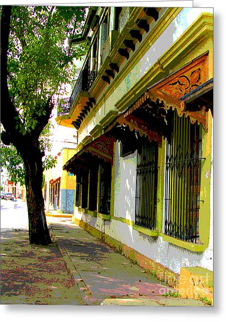Gypsy Greeting Cards - Shady Street by Darian Day Greeting Card by Olden Mexico