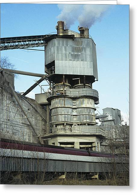 Calcined Greeting Cards - Shaft Kiln For Lime Burning Greeting Card by Dirk Wiersma