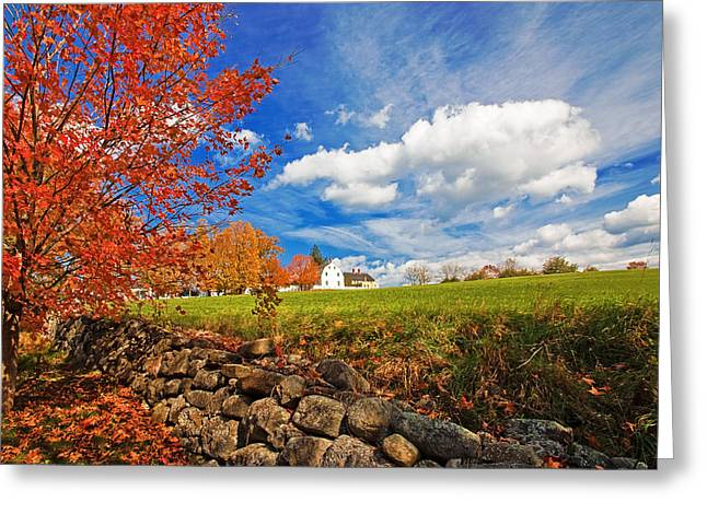 New England Village Greeting Cards - Shaker Village Greeting Card by Robert Clifford