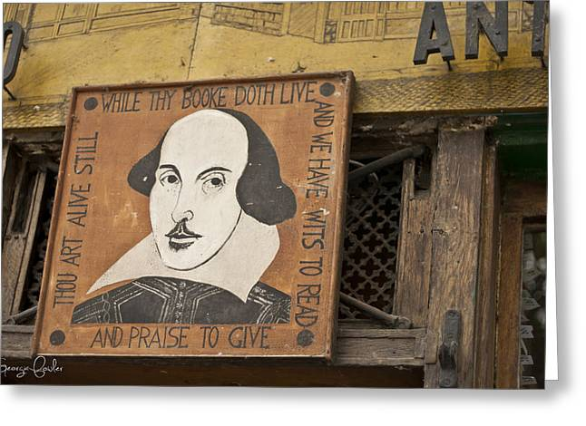 Bookstore Greeting Cards - Shakespeare and Co Greeting Card by Nomad Art And  Design