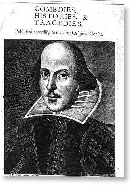 1st Edition Greeting Cards - Shakespeare: Folio, 1623 Greeting Card by Granger