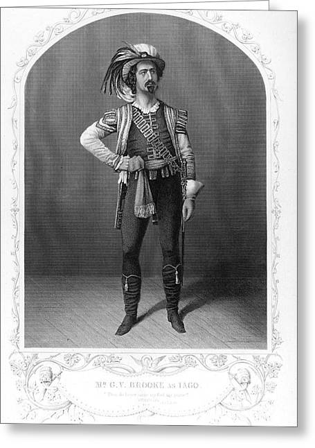Othello Greeting Cards - SHAKESPEARE: IAGO, 19th CT Greeting Card by Granger