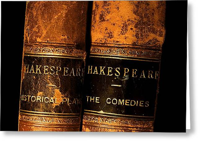 Shakespeare Leather Bound Books Greeting Card by The Irish Image Collection