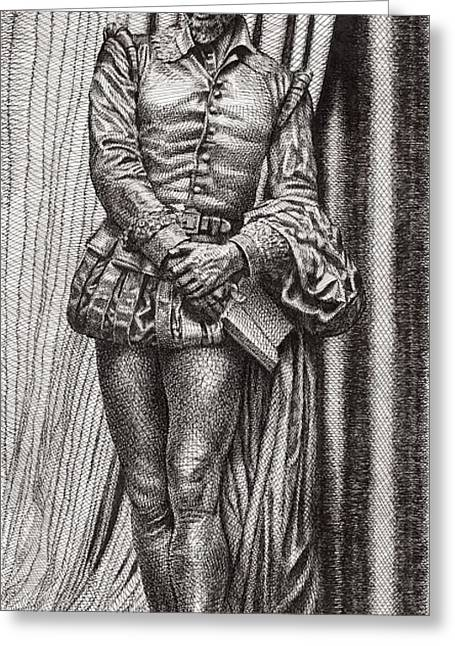 Acting Paintings Greeting Cards - Shakespeare On Stage Greeting Card by David Clemons