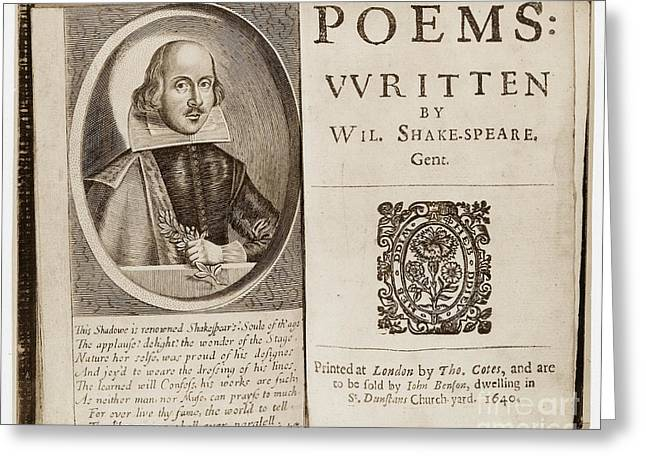 Book Title Greeting Cards - Shakespeare: Poems Greeting Card by Granger