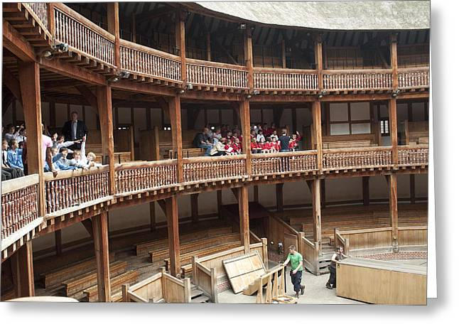 Open Air Theater Greeting Cards - Shakespeares Globe Theater C378 Greeting Card by Charles  Ridgway