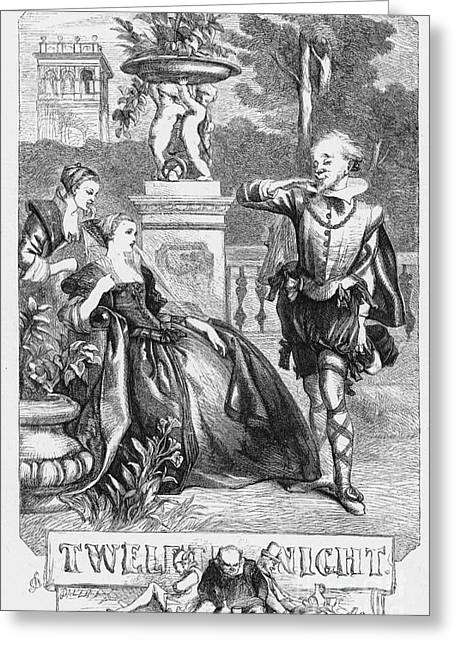 Book Title Greeting Cards - Shakespeare:twelfth Night Greeting Card by Granger