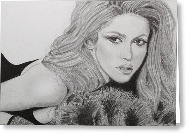 Shakira Greeting Card by Andrew Nelson