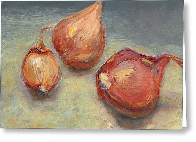 Shallots Greeting Card by Scott Bennett