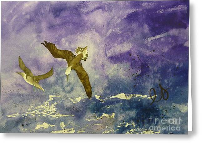 Shallow Dive  Greeting Card by Estephy Sabin Figueroa