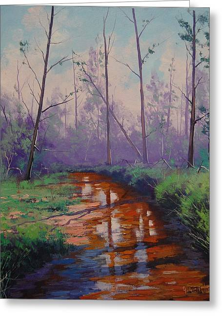 River Paintings Greeting Cards - Shallow stream Greeting Card by Graham Gercken