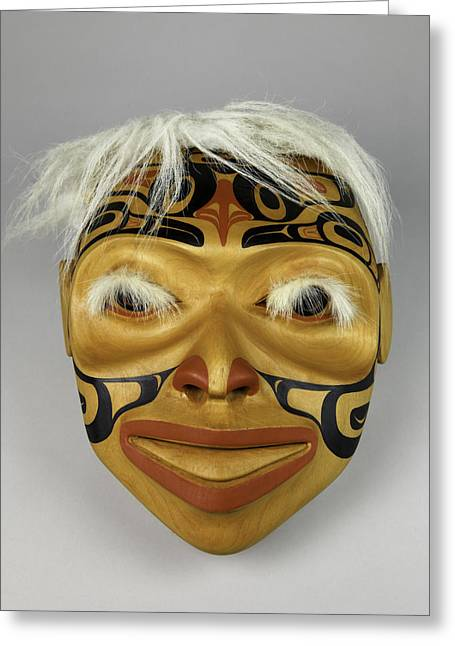 Shamanism Greeting Cards - Shamans Mask Greeting Card by Gary Dean Mercer Clark