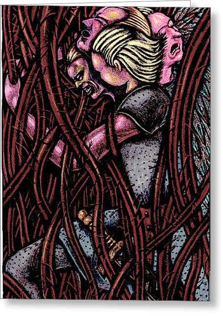 Negotiate Greeting Cards - Shamsiel In The Roots Greeting Card by Al Goldfarb