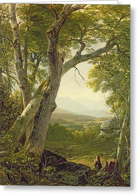 Rural Schools Paintings Greeting Cards - Shandaken Ridge - Kingston Greeting Card by Asher Brown Durand