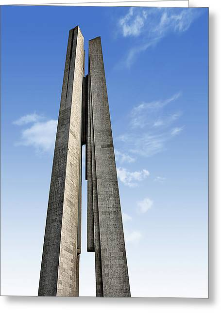 Bund Greeting Cards - Shanghai - Monument to the Peoples Heroes Greeting Card by Christine Till