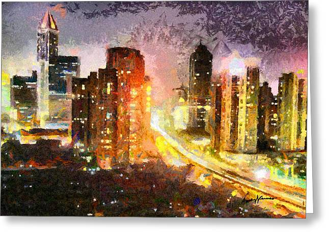 Roadway Digital Art Greeting Cards - Shanghai Greeting Card by Anthony Caruso
