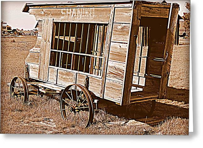 Paddy Wagon Greeting Cards - Shaniko Paddy Wagon Greeting Card by Cindy Wright