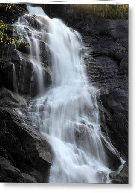 Shannon Greeting Cards - Shannon Falls in Squamish B.C Greeting Card by Pierre Leclerc Photography