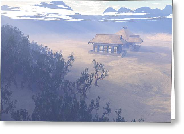 Terragen Greeting Cards - Shaolin Valley Greeting Card by Napo Bonaparte