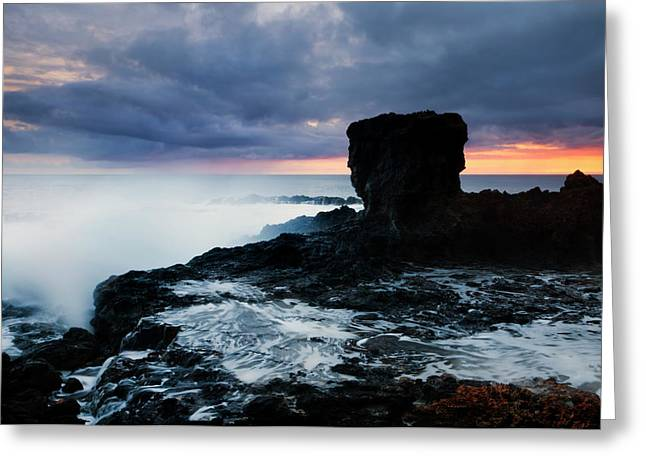 Koloa Greeting Cards - Shaped by the Waves Greeting Card by Mike  Dawson