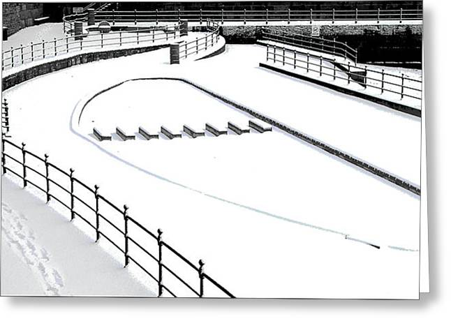 Shapes In The Snow Greeting Card by Barry Hayton