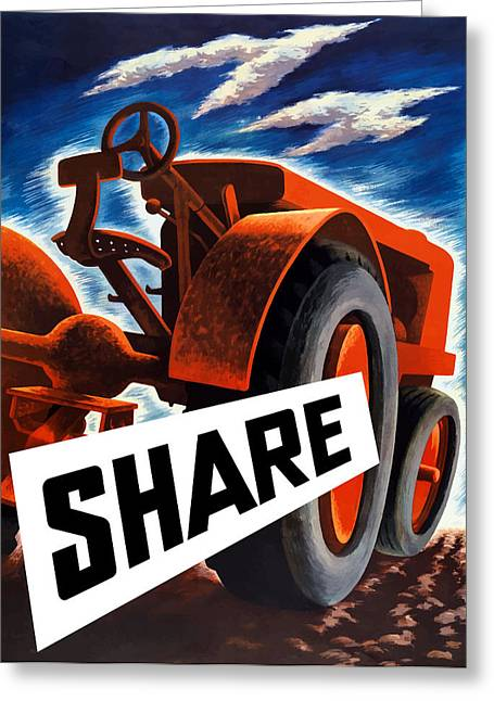 Tractors Greeting Cards - Share Greeting Card by War Is Hell Store