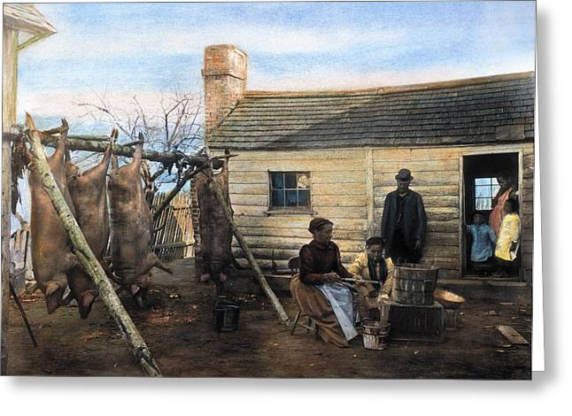 Sharecropper Greeting Cards - Sharecropper Family, 1900 Greeting Card by Granger