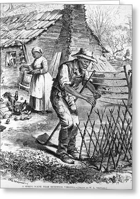 Sharecropper Greeting Cards - Sharecroppers, 1870 Greeting Card by Granger