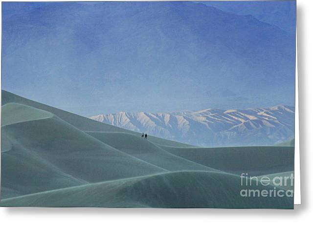 Mountains Of Sand Greeting Cards - Sharing The Silence Greeting Card by Bob Christopher