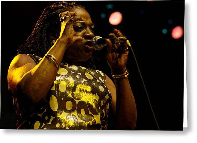 Jeff Ross Greeting Cards - Sharon Jones Greeting Card by Jeff Ross