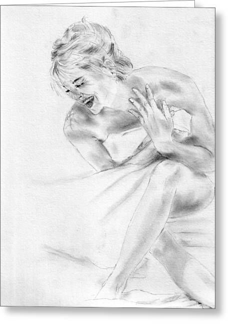 (sharon Stone) Greeting Cards - Sharon Stone Greeting Card by Jessica Rose