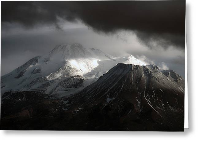 Mt. Shasta Greeting Cards - Shasta Mood Greeting Card by Holly Ethan