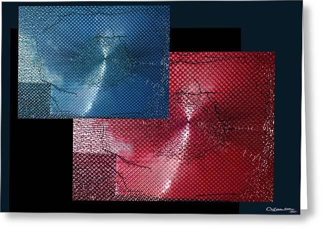 Xoanxo Digital Art Greeting Cards - Shattered 3 Greeting Card by Xoanxo Cespon