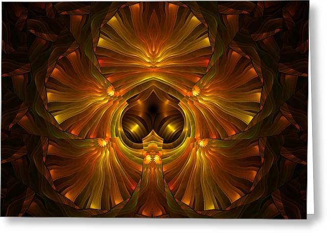 Shattered Five Leaf Clover Abstract Greeting Card by Georgiana Romanovna
