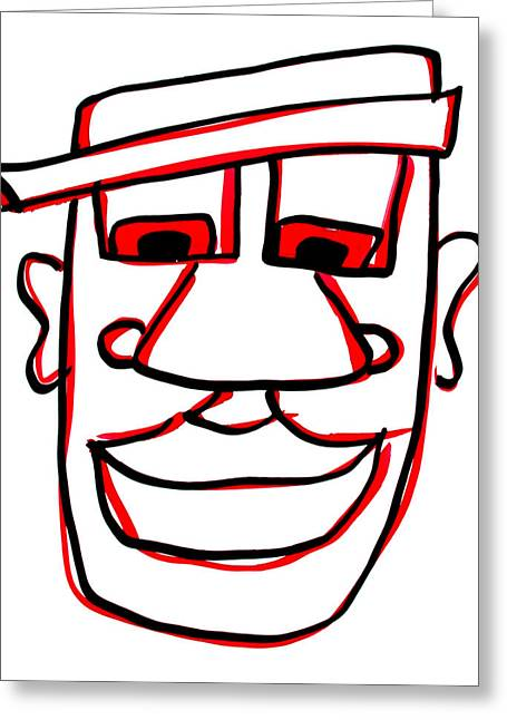 Character Portraits Greeting Cards - Shaun Greeting Card by Jera Sky