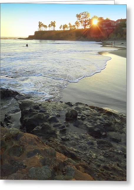 Heisler Park Greeting Cards - Shaws Cove  Greeting Card by Linda Larson Marshutz
