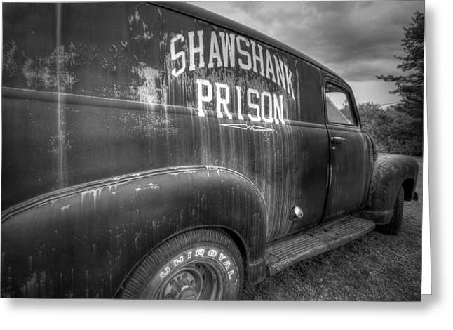 Shawshank Police Truck Greeting Card by Eric Gendron