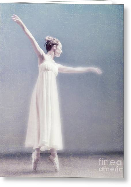 Ballet Dancers Greeting Cards - She Dances Greeting Card by Linde Townsend