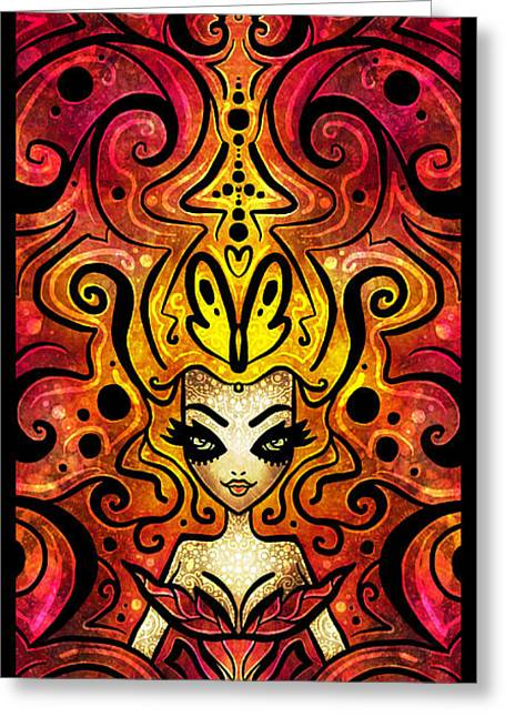 Evil Fairy Greeting Cards - She Devil Greeting Card by Mandie Manzano