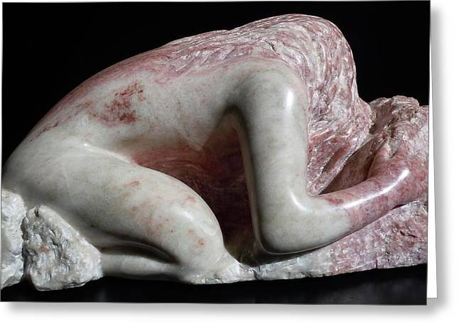 Human Figure Sculptures Sculptures Greeting Cards - She Holds The Earth II Greeting Card by Francine Frank