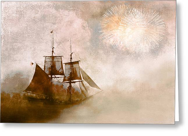Sailer Greeting Cards - She Returns Home Greeting Card by Jeff Burgess